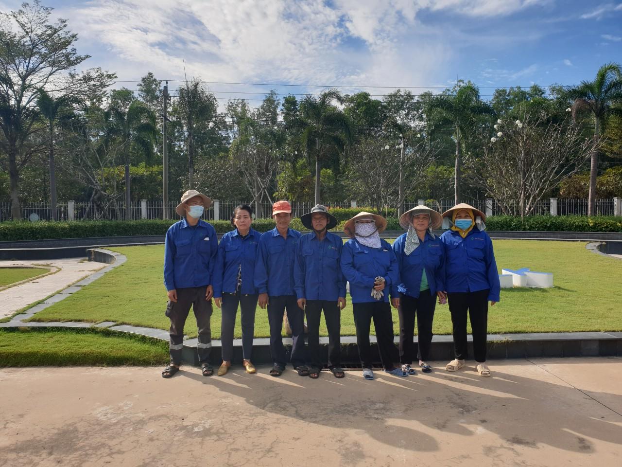 Trồng cỏ khu công nghiệp đại đăng với đội ngũ An Khang