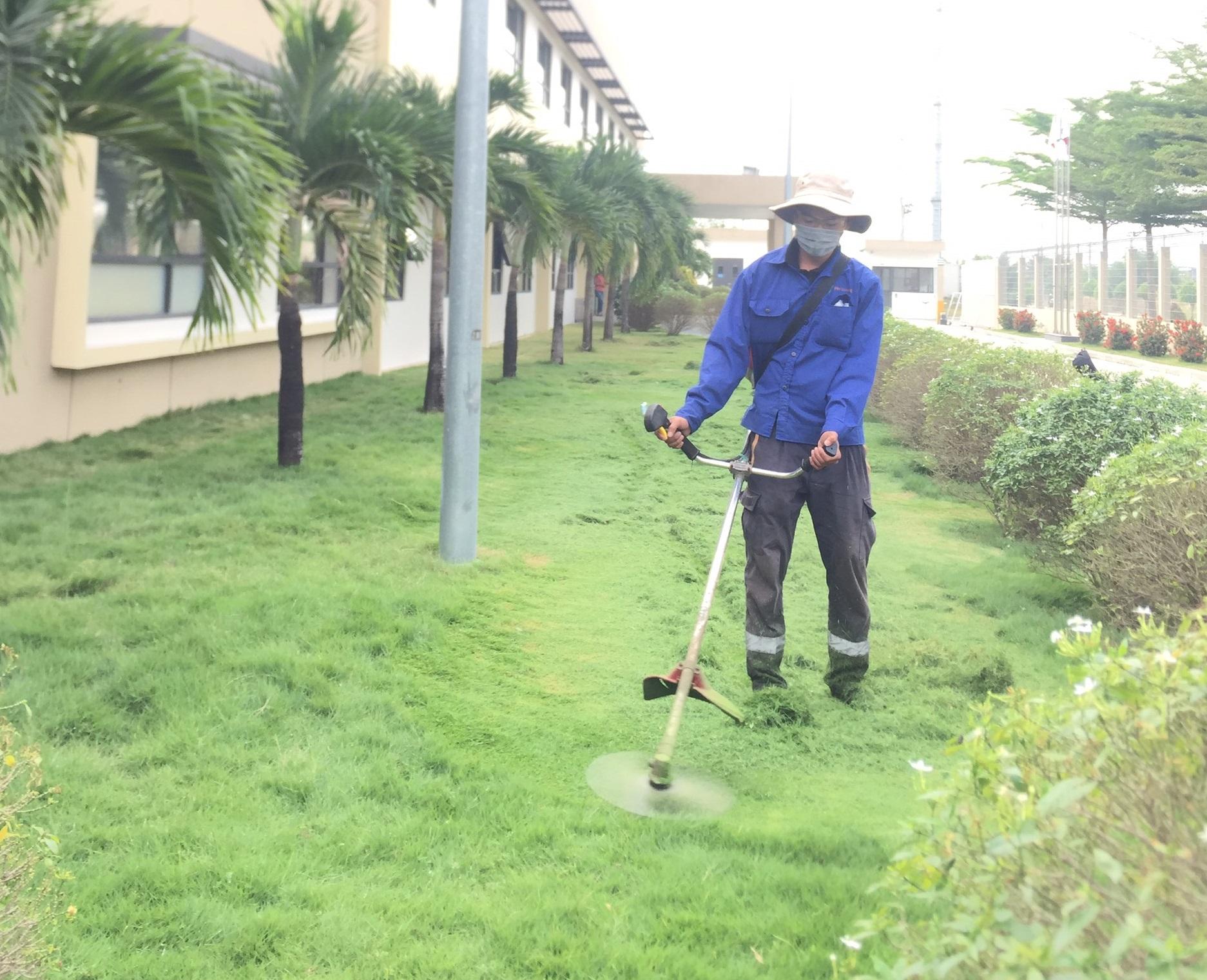 Thực hiện dịch vụ phát hoang cỏ dại tại các KCN Bình Dương cùng An Khang