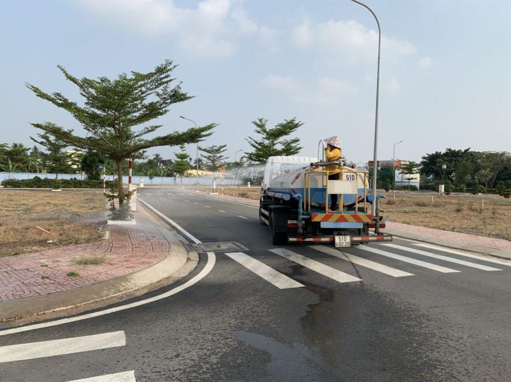 Dịch vụ chăm sóc cây xanh KCN Dệt May Bình An